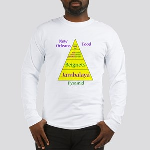 New Orleans Food Pyramid Long Sleeve T-Shirt