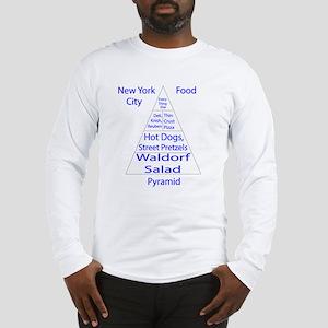 New York City Food Pyramid Long Sleeve T-Shirt