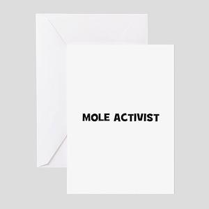 Mole Activist Greeting Cards (Pk of 10)