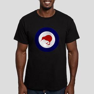 New Zealand Roundel Men's Fitted T-Shirt (dark)