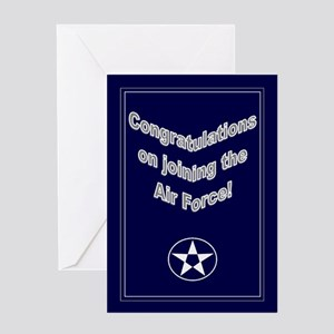 Congrats on Joining Air Force Greeting Card