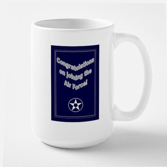 Congrats on Joining Air Force Large Mug