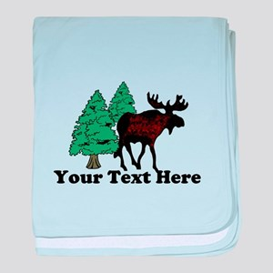 Customized Moose WoodsT's baby blanket
