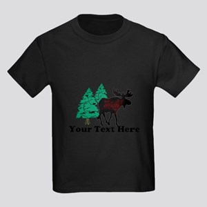 Customized Moose WoodsT's Kids Dark T-Shirt