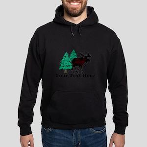 Customized Moose WoodsT's Hoodie (dark)