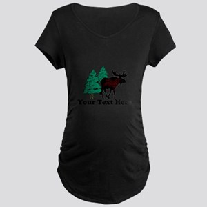 Customized Moose WoodsT's Maternity Dark T-Shirt