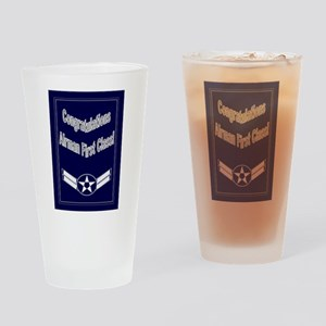 Congratulations Air Force Air Drinking Glass