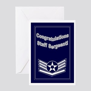 Congratulations Usaf Staff Se Greeting Card
