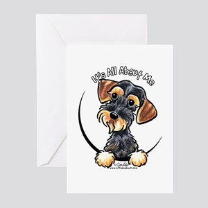 Wild Boar Dachshund IAAM Greeting Cards (Pk of 10)
