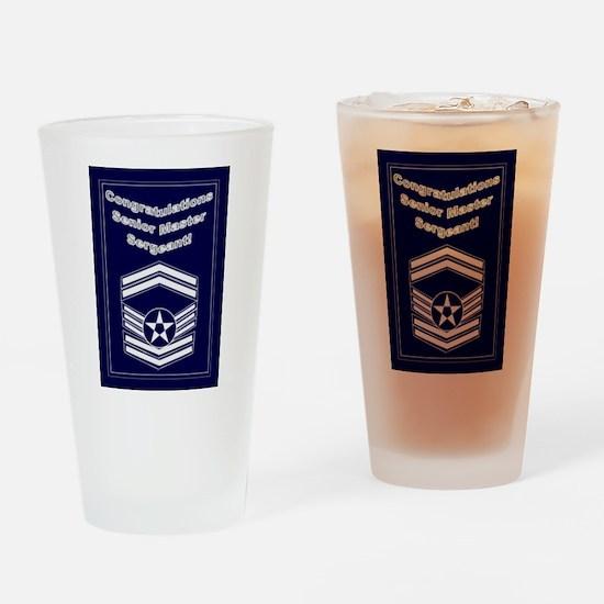 Congratulations USAF Senior M Drinking Glass
