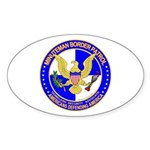 Minuteman Border Patrol Oval Sticker