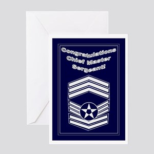 Congratulations USAF Chief Ma Greeting Card
