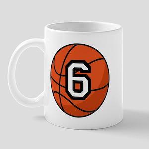 Basketball Player Number 6 Mug
