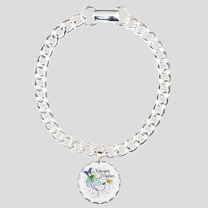 Butterfly Swirl Charm Bracelet, One Charm