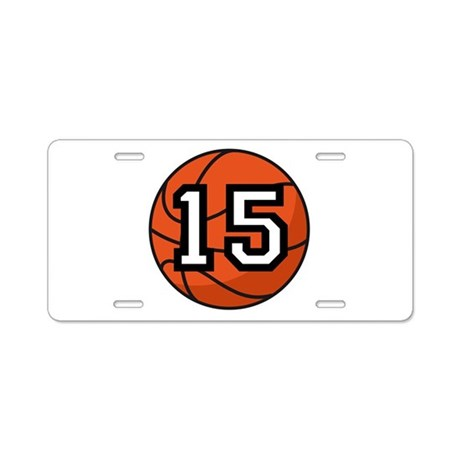 Basketball Player Number 15 Aluminum License Plate
