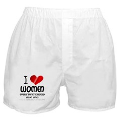I Heart Women Boxer Shorts