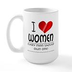 I Heart Women Large Mug