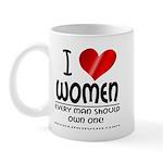 I Heart Women Mug