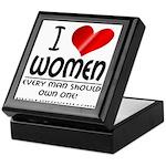 I Heart Women Keepsake Box