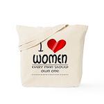 I Heart Women Tote Bag