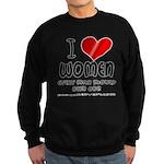 I Heart Women Sweatshirt (dark)