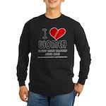 I Heart Women Long Sleeve Dark T-Shirt