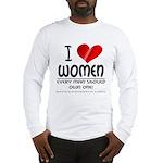 I Heart Women Long Sleeve T-Shirt