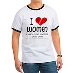 I Heart Women Ringer T