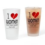 I Heart Women Drinking Glass
