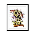 Carpe Bacon Framed Panel Print
