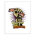 Carpe Bacon Small Poster