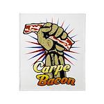 Carpe Bacon Throw Blanket