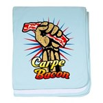 Carpe Bacon baby blanket