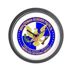 Minutemen Border Patrol Wall Clock