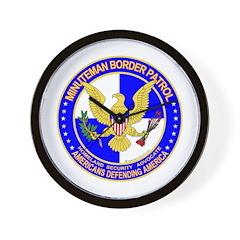 Minutemen Border Patrol Wall Clock