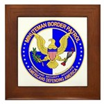 Minutemen Border Patrol Framed Tile