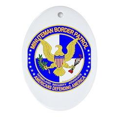 Minutemen Border Patrol Oval Ornament