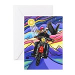 MCycle - Eagle 1 Greeting Cards (Pk of 10)