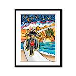 Motorcycle Skyway #1 Framed Panel Print