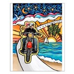 Motorcycle Skyway #1 Small Poster