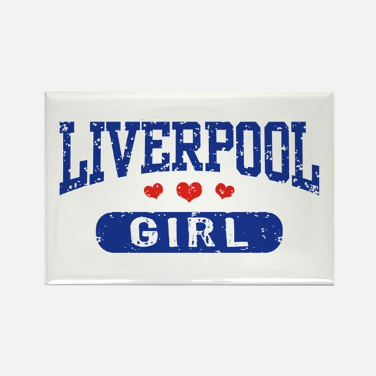 Liverpool Girl Rectangle Magnet