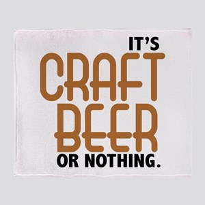 Craft Beer or Nothing Throw Blanket