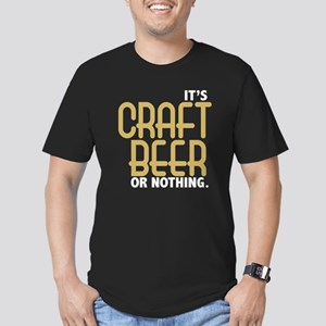 Craft Beer or Nothing Men's Fitted T-Shirt (dark)