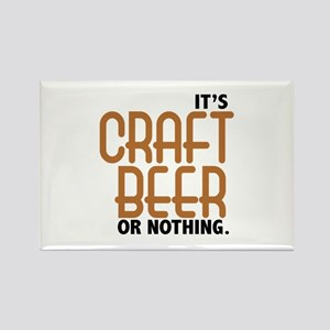 Craft Beer or Nothing Rectangle Magnet