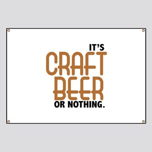 Craft Beer or Nothing Banner