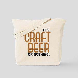 Craft Beer or Nothing Tote Bag