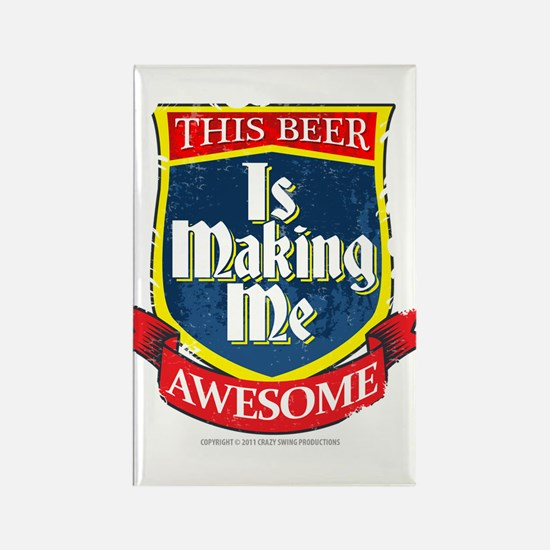 Making Me Awesome Rectangle Magnet
