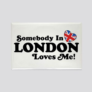 Somebody In London Loves Me Rectangle Magnet