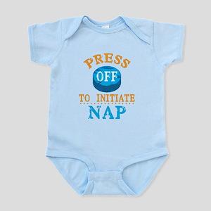 Press Off to Nap Infant Bodysuit