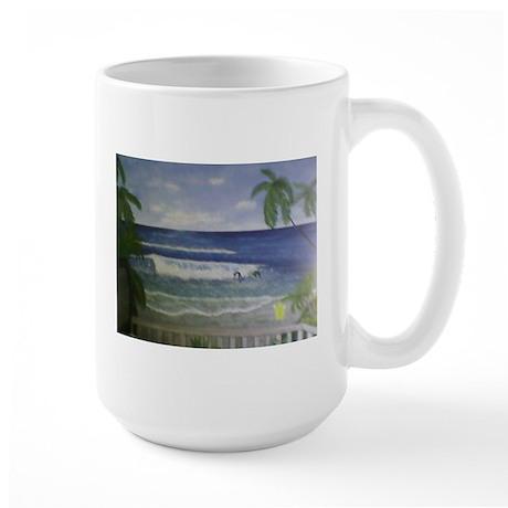 Beach Art Large Mug